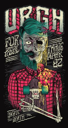 Skate Till Death Urgh | Illustration by Thiago Pacheco, via Behance