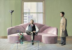 -David Hockney, Henry Geldzhaler and Christopher Scott, British Pop Art. David Hockney Portraits, David Hockney Artwork, Robert Rauschenberg, Edward Hopper, James Rosenquist, Portrait Studio, Pop Art Movement, Social Art, Digital Museum