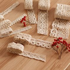 5m Rice white cotton lace hollow cotton lace rope cloth handmade DIY clothing accessories #Affiliate