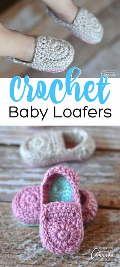 Learn how to make these adorable crocheted baby loafers! Such a fun project, sim. Learn how to make these adorable crocheted baby loafers! Such a fun project, simply use the pattern from this tutorial and crochet a pair of these cute baby loafers today! Crochet Baby Boots, Crochet Sandals, Booties Crochet, Crochet Bebe, Crochet Shoes, Crochet Slippers, Crochet For Kids, Baby Booties, Crochet Clothes