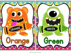 These adorable color posters will go great with any monster theme classroom décor! Included are full size posters(7.5x10 inches), mini posters(5x7 inches), and bonus flashcards(3x4.5 inches) in portrait orientation. 11 colors-red, yellow, orange, green, blue, purple, pink, brown, gray, black, and white. Choice of spellings of gray/grey included. $