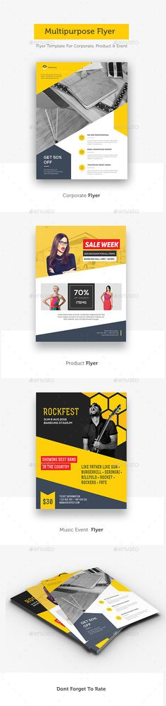 Corporate Flyer  Brochure Template Brochures And Font Logo