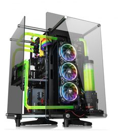 Thermaltake Announces Core Tempered Glass Edition Chassis Gaming Computer Setup, Gaming Pc Build, Computer Build, Gaming Pcs, Gaming Room Setup, Pc Setup, Computer Technology, Computer Station, Gaming Station