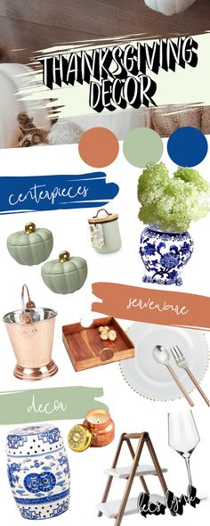 """Shop the Look from Becs Lynk on ShopStyleI could create an entire book on """"How To Host Your First Thanksgiving,"""" and . Pumpkin Centerpieces, Centerpiece Decorations, First Thanksgiving, Fall Decor, Holiday Decor, Ginger Jars, Thanksgiving Decorations, Home And Living, Artisan"""