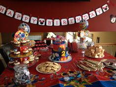 Mickey mouse dessert and candy table Mickey mouse birthday party