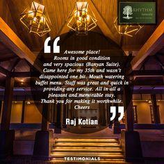 A happy customer has shared his experience with us  Rhythm Lonavala  http://rhythmlonavala.in/  #RhythmLonavala #RhythmOfLife #Resort #HolidayHome #WeekendGetaway #Lonavala #Testimonial