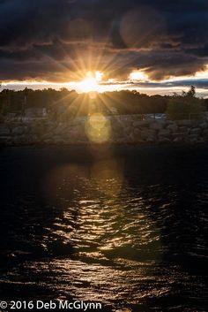Golden Starburst Sunset over Lake Ontario, Instant Digital Download, Digital Print, Wall Art by ACaptureInTime on Etsy