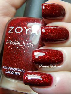 I need a polish like this for my collection! Perfecto for Christmastime!