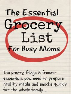 Do you struggle with meal planning and keeping track of what you've got in the cupboard and what you actually need? This essential grocery list will help you keep track and save money whilst you're at it ...