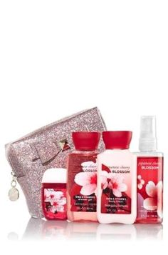 Bath and Body Works ~ Japanese Cherry Blossom ~ Holiday Magic ~ Travel Size ~ Gift Set >>> Find out more details by clicking the image : Travel Skincare