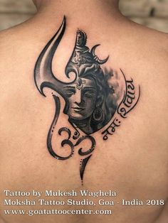 Shiva Tattoo by Mukesh Waghele at MOKSHA TATTOO STUDIO , (Goa,India) In Hinduism, the river Ganges is considered sacred as is personified as the goddess Ganga. She is worshiped by . Bholenath Tattoo, Goa Tattoo, Band Tattoo, Body Art Tattoos, Men Tattoos, Tatoos, Forearm Tattoos, Chakra Tattoo, Dotwork Tattoo Mandala
