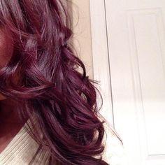 Burgundy plum hair color, ombre hair color, purple hair, hair c Love Hair, Great Hair, Gorgeous Hair, Beautiful, Burgundy Plum Hair Color, Purple Hair, Plum Color, Violet Hair, Dark Purple