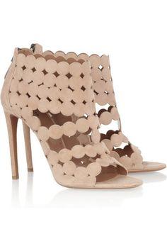 ALAÏA Cutout suede sandals