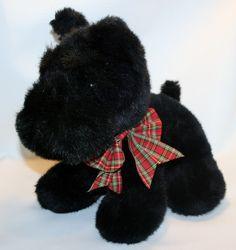254443bef04 Plush Black Scottie Puppy Dog Scottish Terrier Stuffed Animal Toy 13