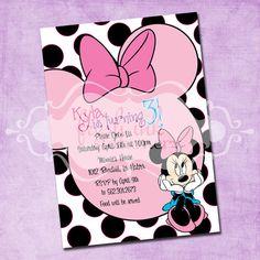 Minnie Mouse Birthday Invitation by FreshInkStationery on Etsy, $1.40