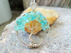 Blue Topaz Sterling Silver Tree Of Life Pendant #BeadingOnABudegt #artisan