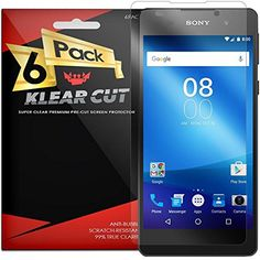 Sony Xperia E5 Screen Protector [6-Pack], Klear Cut High Definition Clear Screen Protector for Sony Xperia E5 PET Film Anti-Bubble Shield -- Visit the image link more details. (This is an affiliate link) #Accessories