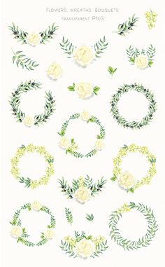 Watercolor Summer Wedding ( Free Flowers PNG ) on Behance