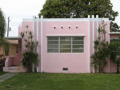 Art Deco - Pink House, Hollywood Vintage Tropical Architecture 110 by Ron Gunzburger, via Flickr