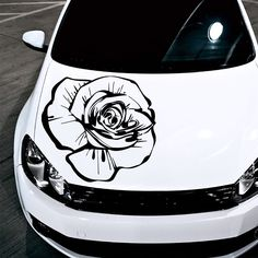 Amazon.com - Car Decals Hood Decal Vinyl Sticker Rose Flower Floral Auto Decor Graphics OS160 - Automotive Decals