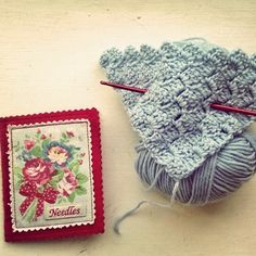 Porcupine Design: cath kidston needle case and crochet diagonal stitch