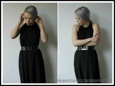 dress: Cheap Monday (old) I'm sure you remember the DIY transparent arm cuffs and chokers I made out of perspex.