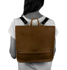Sunday Leather Backpack Natural Brown Leather por Modernaked