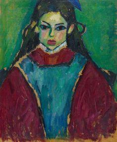 Alexej von Jawlensky, Garten am Bauernhaus. Verso: Mädchenbildnis, 1907 resp. circa 1910, Auction 1051 Modern Art, Lot 204