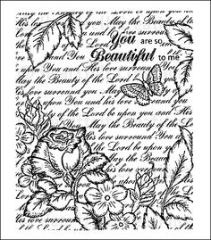 Heartfelt Creations | Bella Rose Vintage Background PreCut Set     $15.99