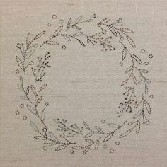 Sashiko Australian Bush Colours Wreath Kit