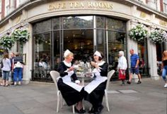 Betty's Tearooms Waitresses.     Very famous up in York, and very tasty tea and pastries...