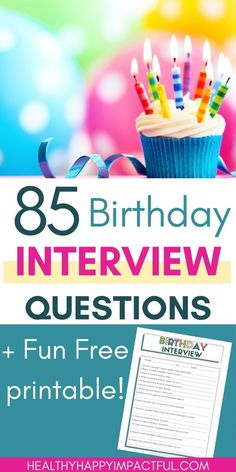 Check out the perfect birthday questions and free birthday interview printable for kids! 85 fun and easy interview questions and great ideas to save your sweet memories with a book or videos. Try them today! #birthdayquestionaire 85th Birthday, Free Birthday, It's Your Birthday, Sibling Relationships, Communication Relationship, Birthday Interview Questions, Funny Questions, What Day Is It, Strong Family