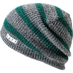 2238eac4412 Neff Daily Grey   Green Striped Beanie