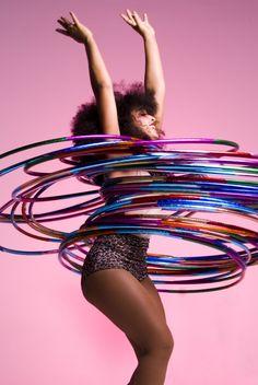 Hula hoop all day.