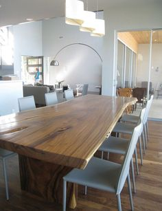 Salvaged wood dining table (chairs and style a miss, but table is stunning)