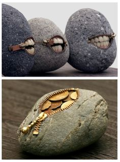 Easy Paint Rock For Try at Home (Stone Art & Rock Painting Ideas) Stone Crafts, Rock Crafts, Arts And Crafts, Art Rupestre, Art Pierre, Concrete Crafts, Dremel, Pebble Art, Stone Painting