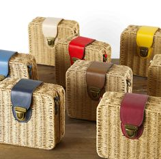 Bolsos de mimbre Basket, Leather Bags, Wicker, Suitcases, Backpack Purse, Backpacks, Totes, Leather Tote Handbags