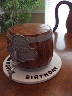 Mark whitman's double chocolate stout beer barrel cake!