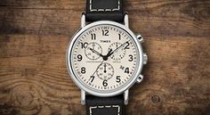 You just found the only watch you'll ever need. A timeless chronograph that let's you change up leather and nylon straps for the season, the occasion or even your mood. Timex