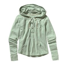 d881cd0d6fa6d Patagonia Women\'s Necessity Terry Hooded Pullover - Gypsum Green GYPG Long  Hoodie,
