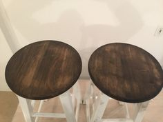Minwax combination of ebony Dark Walnut. Walnut Stain, Hill Country Homes, Kitchen Stools, Furniture Refinishing, Front Porch, House Ideas, Decorating Ideas, Stains