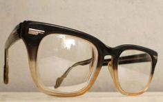 Mad Men Horn Rimmed Glasses Root Beer Fade Amber by HaroldandMod, $66.00