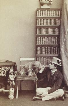 Prince Alfred of Edinburgh (The Hereditary Prince of Saxe-Coburg and Gotha) and dog, 1864.