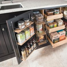 6 Smart Tips: Kitchen Remodel Rustic Easy Diy kitchen remodel ideas before and after.Galley Kitchen Remodel Pot Racks kitchen remodel must haves awesome. Kitchen Cabinet Organization, Kitchen Storage, Cabinet Storage, Pantry Storage, Storage Containers, Pantry Closet, Small Cabinet, Cabinet Ideas, Storage Drawers