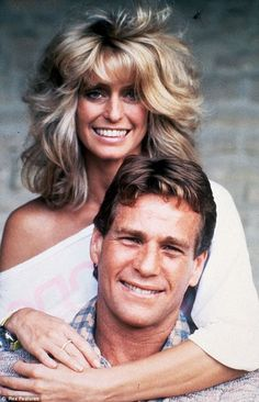 Farrah Fawcett and Ryan O`Neil http://celebritiesphotograph.blogspot.com