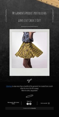 My garments/product portfolio has gonelive!Check It Out!
