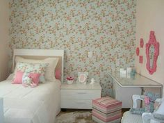 Image about room in Quartos by lindsay on We Heart It Home Bedroom, Girls Bedroom, Bedroom Decor, Wall Decor, Floral Bedroom, Princess Room, Little Girl Rooms, Interiores Design, Decor Interior Design