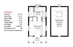 Epu floor plan 15 ft. long