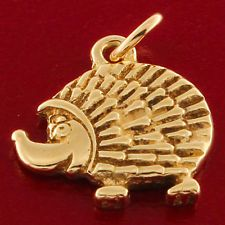 UK Hallmarked 9 ct Gold Hedgehog Charm RRP £105 BWQ16