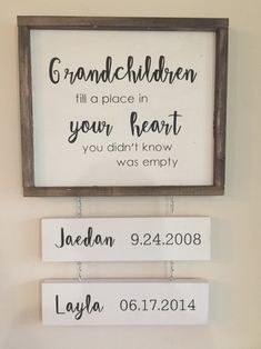 Each sign is handmade from solid Pine wood We use Annie Sloan Chalk on all of our signs (Back Annie Sloan, Craft Gifts, Diy Gifts, Handmade Gifts, Home Gifts, Mason Jar Crafts, Mason Jar Diy, Grandkids Sign, Grandkids Quotes
